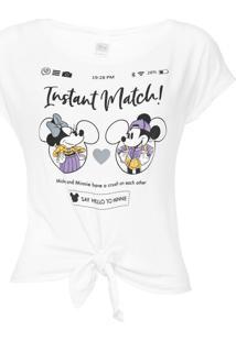 Blusa Cativa Disney Minnie Branca - Kanui