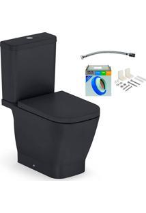 Kit Bacia Com Caixa Acoplada E Assento Gap Onix + Conjunto De Fixação Flexível E Anel De Vedação - Roca - Roca