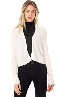 Cardigan Seda Cropped Banana Republic Tricot Silk Off-White