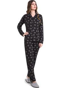 Pijama Feminino Aberto Diamante