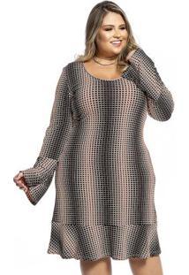 Vestido Feminino Rovitex Plus Laranja