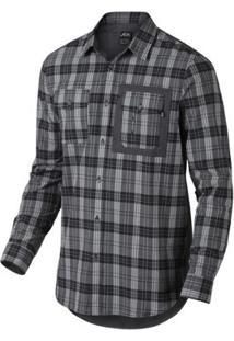 Camisa Oakley Xadrez O-Plaid Woven - Masculino-Preto