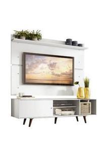 Rack Madesa Dubai E Painel Para Tv Até 65 Polegadas Com Pés Branco/Rustic