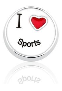 Pingente Folheado Cápsula Conquistas I Love Sports