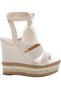 Sandália Anabela Natural Mix White | Schutz