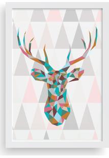 Quadro Love Decor Decorativo Cervo Geométrico