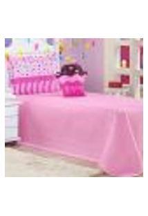 Cobre Leito Solteiro Life Kids Cupcake Rosa Ione Enxovais 3 Peças