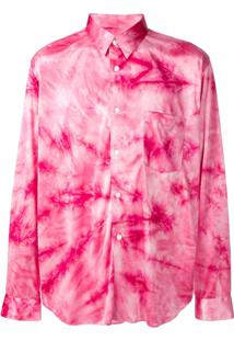 Comme Des Garçons Homme Plus Camisa Tie-Dye - Rosa