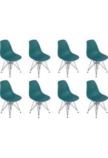 Cadeira E Banco De Jantar Impã©Rio Brazil Charles Eames Eiffel Base Metal - Azul/Incolor - Dafiti