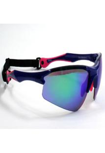 Óculos De Sol Jf Sun Bold-Azul/Rosa - Azul Espelhado