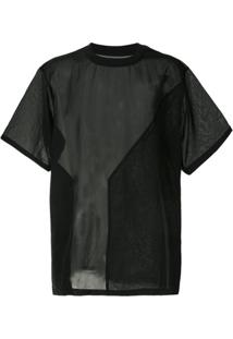 Y-3 Camiseta Translúcida - Preto