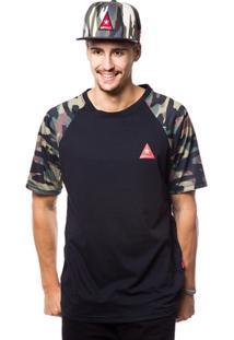 Camiseta Asphalt Camo Sleeve Masculina - Masculino