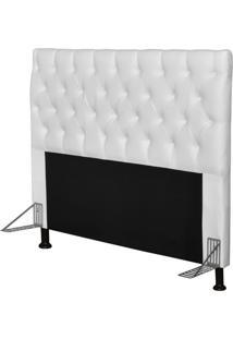 Cabeceira Cama Box Casal 195Cm Cristal Corino Branco - Js Móveis
