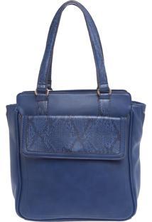 Bolsa Fiveblu Sacola Bolso Quadrado Azul