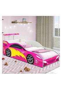 Cama Carro Solteiro Pink Casah
