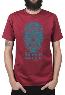 Camiseta Bleed American Los Muertos Vinho