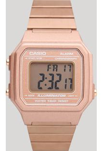 Relógio Digital Casio Feminino - B650Wc5Adf Rosê - Único