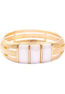 Bracelete Banhado A Ouro E Porcelana Fane'S 21