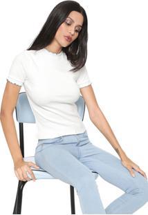 Blusa Hering Pespontos Off-White
