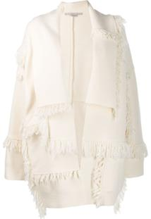 Stella Mccartney Cardigan Com Franjas - Branco