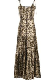 Veronica Beard Vestido Longo Com Estampa De Leopardo - Neutro
