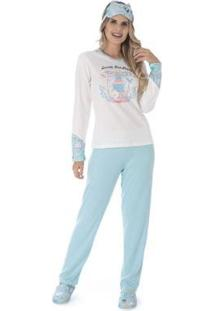 Conjunto Pijama Victory Inverno Tradicional Feminino - Feminino-Verde