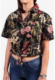 Camisa Tropical Preta 800066