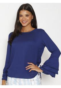 Blusa Lisa- Azul Escurocarmen Steffens