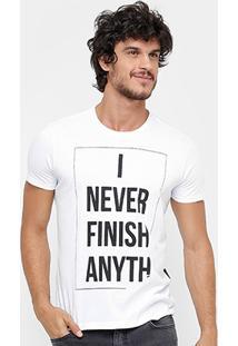 Camiseta Ellus I Never Masculina - Masculino