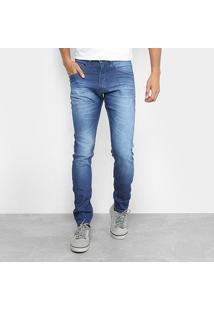 Calça Jeans Skinny Hd Masculina - Masculino-Azul