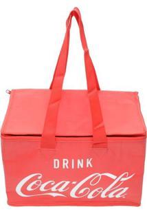 Bolsa Térmica Coca-Cola®- Vermelha & Branca- 21,5X30Urban