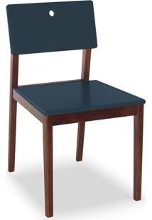 Cadeira Flip I Cacau E Azul Marinho