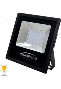 Refletor Led Slim 30W Bivolt Branco Quente 3000K - 74303000 - Blumenau - Blumenau