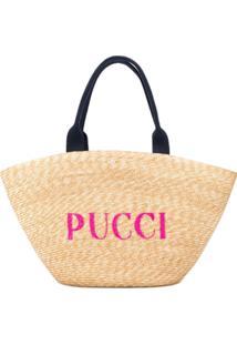 Emilio Pucci Bolsa Tote Com Logo - Neutro
