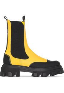Ganni Ankle Boot Chelsea - Amarelo