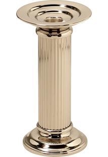 Castiçal De Metal Decorativo Lumi Para 1 Vela