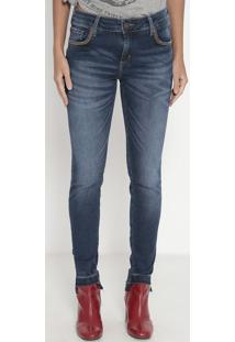 Jeans Low Skinny Haiti- Azul Escuro- John Johnjohn John