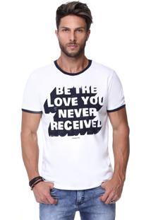 Camiseta Branca King&Joe Be The Love You Never Received