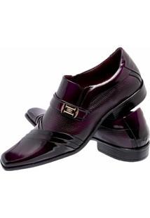 Sapato Social Envernizado Gofer Couro - Masculino