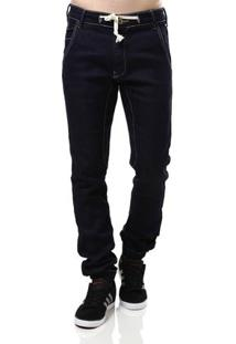 Calça Jeans Masculina Jogger Azul