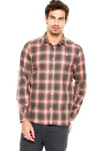 Camisa Coca-Cola Jeans Regular Preta/Laranja