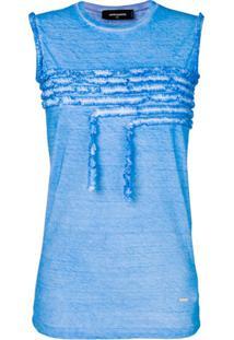 Dsquared2 Regata Com Detalhe De Babados - Azul