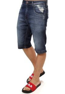 Bermuda Jeans Masculina Azul