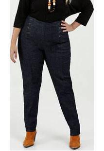 Calça Feminina Jeans Skinny Cintura Alta Plus Size Razon