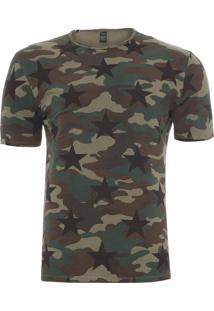 Camiseta Masculina Camouflage - Verde