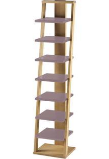 Prateleira Suspensa Stairway 1132 Palha/Lilás - Maxima