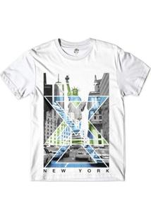 Camiseta Bsc Nova Iorque Capital De Tudo Sublimada - Masculino-Branco