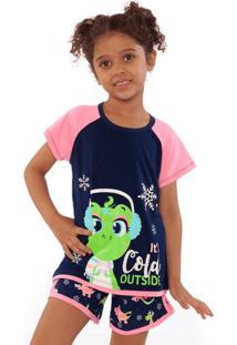 Pijama Dina- Azul Marinho & Rosapuket