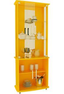 Cristaleira Luxo 4 Pt Amarela
