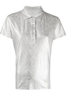 Majestic Filatures Camisa Polo Com Acabamento Metálico - Prateado